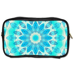Blue Ice Goddess, Abstract Crystals Of Love Travel Toiletry Bag (one Side)