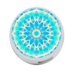 Blue Ice Goddess, Abstract Crystals Of Love 4-Port USB Hub (One Side)
