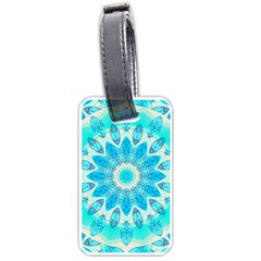Blue Ice Goddess, Abstract Crystals Of Love Luggage Tag (One Side)