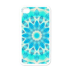 Blue Ice Goddess, Abstract Crystals Of Love Apple Iphone 4 Case (white)