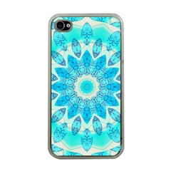 Blue Ice Goddess, Abstract Crystals Of Love Apple Iphone 4 Case (clear)