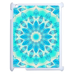 Blue Ice Goddess, Abstract Crystals Of Love Apple iPad 2 Case (White)
