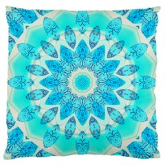 Blue Ice Goddess, Abstract Crystals Of Love Large Cushion Case (Single Sided)