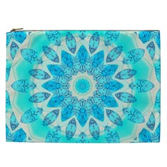 Blue Ice Goddess, Abstract Crystals Of Love Cosmetic Bag (XXL)