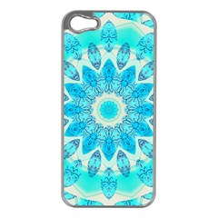 Blue Ice Goddess, Abstract Crystals Of Love Apple Iphone 5 Case (silver)