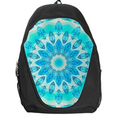 Blue Ice Goddess, Abstract Crystals Of Love Backpack Bag