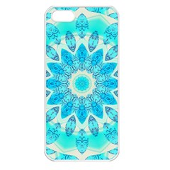 Blue Ice Goddess, Abstract Crystals Of Love Apple Iphone 5 Seamless Case (white)