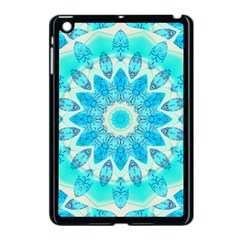 Blue Ice Goddess, Abstract Crystals Of Love Apple iPad Mini Case (Black)