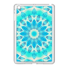 Blue Ice Goddess, Abstract Crystals Of Love Apple iPad Mini Case (White)
