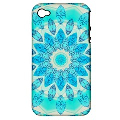 Blue Ice Goddess, Abstract Crystals Of Love Apple iPhone 4/4S Hardshell Case (PC+Silicone)