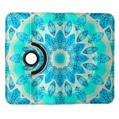 Blue Ice Goddess, Abstract Crystals Of Love Samsung Galaxy Note II Flip 360 Case