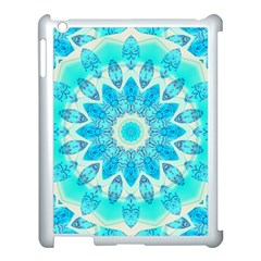 Blue Ice Goddess, Abstract Crystals Of Love Apple iPad 3/4 Case (White)