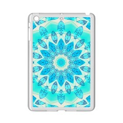 Blue Ice Goddess, Abstract Crystals Of Love Apple iPad Mini 2 Case (White)