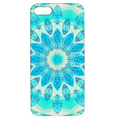 Blue Ice Goddess, Abstract Crystals Of Love Apple iPhone 5 Hardshell Case with Stand