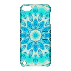 Blue Ice Goddess, Abstract Crystals Of Love Apple Ipod Touch 5 Hardshell Case With Stand
