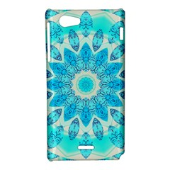 Blue Ice Goddess, Abstract Crystals Of Love Sony Xperia J Hardshell Case