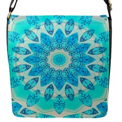 Blue Ice Goddess, Abstract Crystals Of Love Flap Closure Messenger Bag (Small)