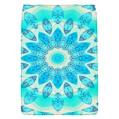 Blue Ice Goddess, Abstract Crystals Of Love Removable Flap Cover (Small)