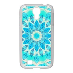Blue Ice Goddess, Abstract Crystals Of Love Samsung Galaxy S4 I9500/ I9505 Case (white)