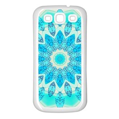 Blue Ice Goddess, Abstract Crystals Of Love Samsung Galaxy S3 Back Case (White)