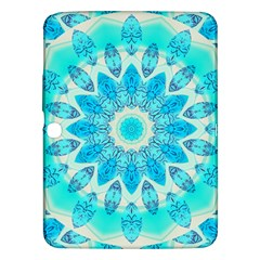 Blue Ice Goddess, Abstract Crystals Of Love Samsung Galaxy Tab 3 (10.1 ) P5200 Hardshell Case