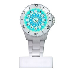 Blue Ice Goddess, Abstract Crystals Of Love Nurses Watch