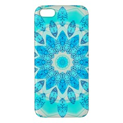 Blue Ice Goddess, Abstract Crystals Of Love iPhone 5S Premium Hardshell Case