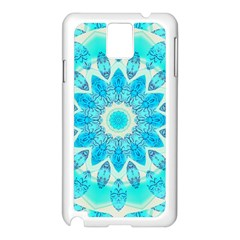 Blue Ice Goddess, Abstract Crystals Of Love Samsung Galaxy Note 3 N9005 Case (White)