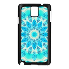 Blue Ice Goddess, Abstract Crystals Of Love Samsung Galaxy Note 3 N9005 Case (Black)