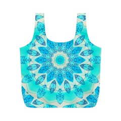Blue Ice Goddess, Abstract Crystals Of Love Reusable Bag (m)