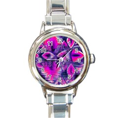 Rose Crystal Palace, Abstract Love Dream  Round Italian Charm Watch