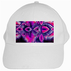 Rose Crystal Palace, Abstract Love Dream  White Baseball Cap