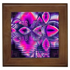 Rose Crystal Palace, Abstract Love Dream  Framed Ceramic Tile