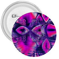Rose Crystal Palace, Abstract Love Dream  3  Button