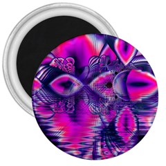 Rose Crystal Palace, Abstract Love Dream  3  Button Magnet