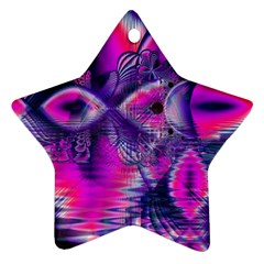 Rose Crystal Palace, Abstract Love Dream  Star Ornament
