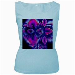 Rose Crystal Palace, Abstract Love Dream  Women s Tank Top (Baby Blue)