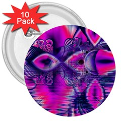 Rose Crystal Palace, Abstract Love Dream  3  Button (10 pack)