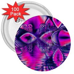 Rose Crystal Palace, Abstract Love Dream  3  Button (100 Pack)
