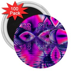 Rose Crystal Palace, Abstract Love Dream  3  Button Magnet (100 Pack)