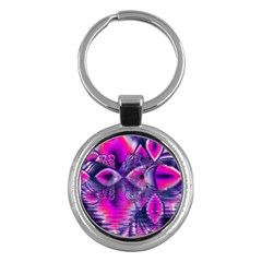 Rose Crystal Palace, Abstract Love Dream  Key Chain (Round)
