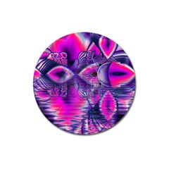 Rose Crystal Palace, Abstract Love Dream  Magnet 3  (round)