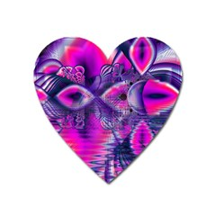 Rose Crystal Palace, Abstract Love Dream  Magnet (Heart)