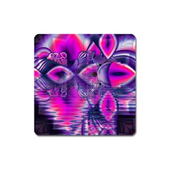 Rose Crystal Palace, Abstract Love Dream  Magnet (Square)