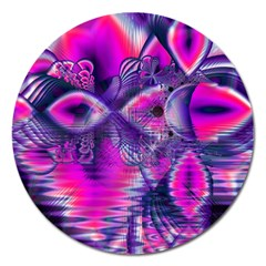 Rose Crystal Palace, Abstract Love Dream  Magnet 5  (Round)