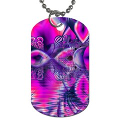 Rose Crystal Palace, Abstract Love Dream  Dog Tag (Two-sided)