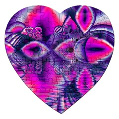 Rose Crystal Palace, Abstract Love Dream  Jigsaw Puzzle (Heart)