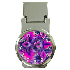Rose Crystal Palace, Abstract Love Dream  Money Clip with Watch