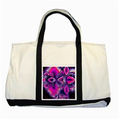 Rose Crystal Palace, Abstract Love Dream  Two Toned Tote Bag