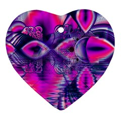 Rose Crystal Palace, Abstract Love Dream  Heart Ornament (Two Sides)